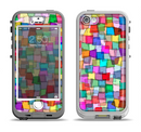 The Vibrant Colored Abstract Cubes Apple iPhone 5-5s LifeProof Nuud Case Skin Set