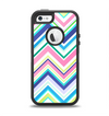 The Vibrant Colored Chevron Pattern V3 Apple iPhone 5-5s Otterbox Defender Case Skin Set