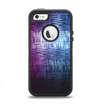 The Vibrant Colored Lined Surface Apple iPhone 5-5s Otterbox Defender Case Skin Set