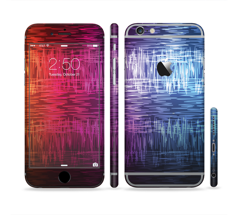 The Vibrant Colored Lined Surface Sectioned Skin Series for the Apple iPhone 6/6s Plus