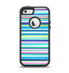 The Vibrant Colored Stripes Pattern V3 Apple iPhone 5-5s Otterbox Defender Case Skin Set