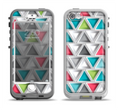 The Vibrant Colored Triangled 3d Shapes Apple iPhone 5-5s LifeProof Nuud Case Skin Set