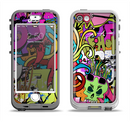 The Vibrant Colored Vector Graffiti Apple iPhone 5-5s LifeProof Nuud Case Skin Set