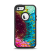 The Vibrant Colored Wet Flower Apple iPhone 5-5s Otterbox Defender Case Skin Set