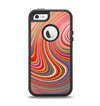 The Vibrant Colorful Swirls Apple iPhone 5-5s Otterbox Defender Case Skin Set