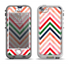 The Vibrant Fall Colored Chevron Pattern Apple iPhone 5-5s LifeProof Nuud Case Skin Set