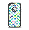 The Vibrant Fun Colored Pattern Hoops Apple iPhone 5-5s Otterbox Defender Case Skin Set