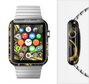 The Vibrant Gold Butterfly Outline Full-Body Skin Set for the Apple Watch