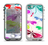 The Vibrant Neon Vector Butterflies Apple iPhone 5-5s LifeProof Nuud Case Skin Set