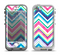 The Vibrant Pink & Blue Layered Chevron Pattern Apple iPhone 5-5s LifeProof Nuud Case Skin Set