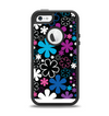 The Vibrant Pink & Blue Vector Floral Apple iPhone 5-5s Otterbox Defender Case Skin Set