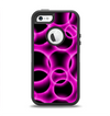 The Vibrant Pink Glowing Cells Apple iPhone 5-5s Otterbox Defender Case Skin Set