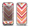 The Vibrant Red & Yellow Sharp Layered Chevron Pattern Apple iPhone 5-5s LifeProof Nuud Case Skin Set