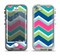 The Vibrant Teal & Colored Layered Chevron V3 Apple iPhone 5-5s LifeProof Nuud Case Skin Set