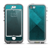 The Vinatge Blue Overlapping Cubes Apple iPhone 5-5s LifeProof Nuud Case Skin Set