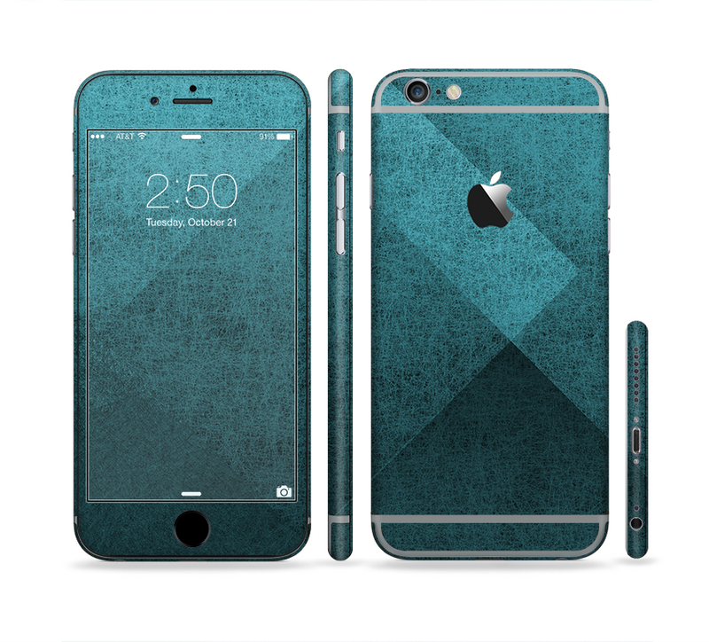 The Vinatge Blue Overlapping Cubes Sectioned Skin Series for the Apple iPhone 6/6s Plus