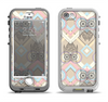 The Vintage Abstract Owl Tan Pattern Apple iPhone 5-5s LifeProof Nuud Case Skin Set