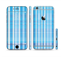 The Vintage Blue Striped Pattern V4 Sectioned Skin Series for the Apple iPhone 6/6s Plus