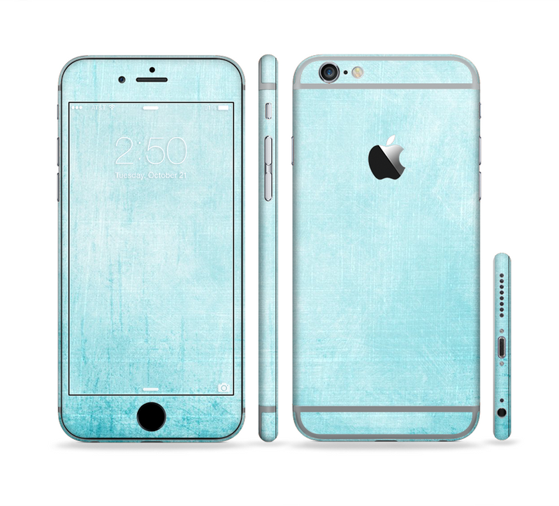 The Vintage Blue Textured Surface Sectioned Skin Series for the Apple iPhone 6/6s Plus