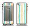 The Vintage Colored Stripes Apple iPhone 5-5s LifeProof Nuud Case Skin Set