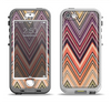 The Vintage Colored V3 Chevron Pattern Apple iPhone 5-5s LifeProof Nuud Case Skin Set