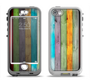 The Vintage Colored Wooden Planks Apple iPhone 5-5s LifeProof Nuud Case Skin Set