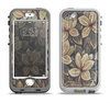 The Vintage Green Pastel Flower pattern Apple iPhone 5-5s LifeProof Nuud Case Skin Set