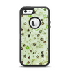 The Vintage Green Tiny Floral Apple iPhone 5-5s Otterbox Defender Case Skin Set