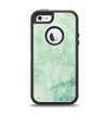 The Vintage Grungy Green Surface Apple iPhone 5-5s Otterbox Defender Case Skin Set