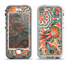 The Vintage Hand-Painted Coral Abstract Pattern Apple iPhone 5-5s LifeProof Nuud Case Skin Set