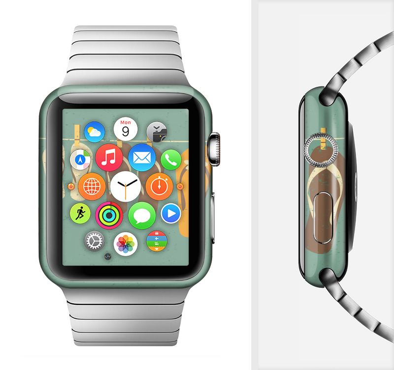 The Vintage Hanging Flip-Flops Full-Body Skin Set for the Apple Watch