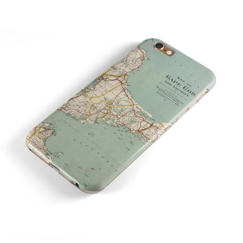 The Vintage Map of Cape Cod iPhone 6/6s or 6/6s Plus 2-Piece Hybrid INK-Fuzed Case