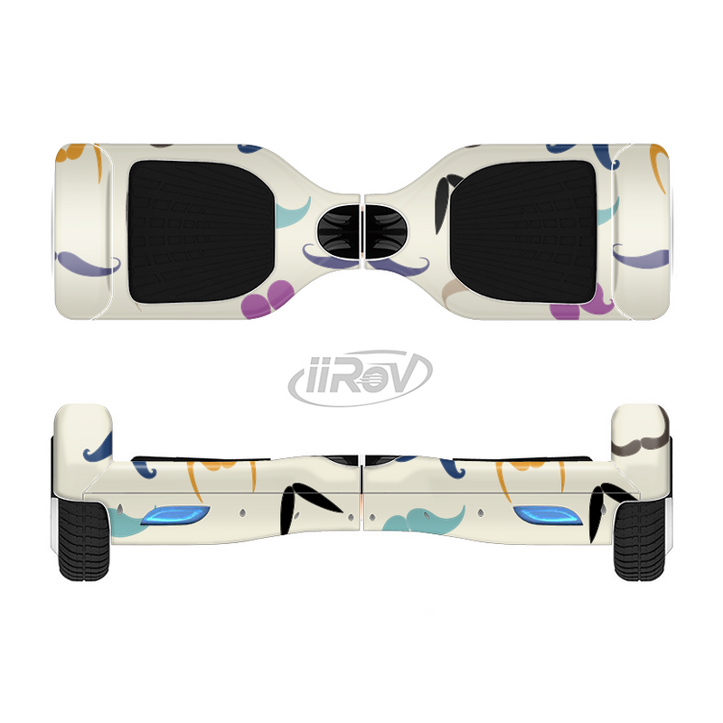 The Vintage Mustache Bundle Full-Body Skin Set for the Smart Drifting SuperCharged iiRov HoverBoard
