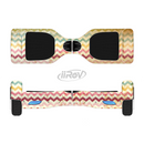 The Vintage Orange and Multi-Color Chevron Pattern V4 Full-Body Skin Set for the Smart Drifting SuperCharged iiRov HoverBoard