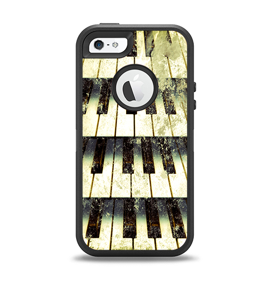 The Vintage Pianos Keys Apple iPhone 5-5s Otterbox Defender Case Skin Set