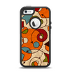 The Vintage Red and Tan Abstarct Shapes Apple iPhone 5-5s Otterbox Defender Case Skin Set