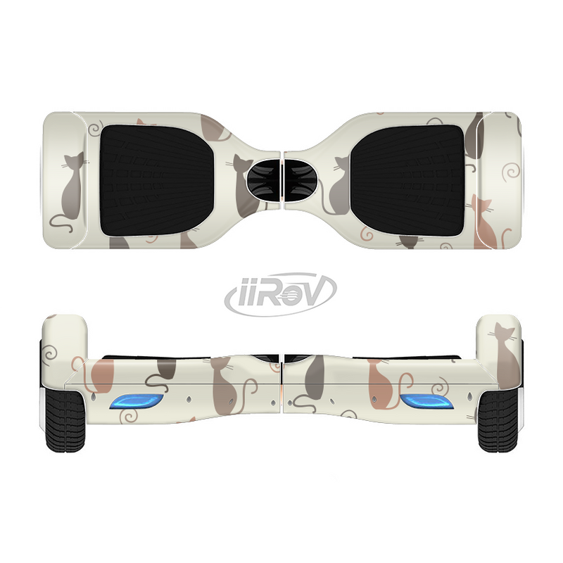 The Vintage Solid Cat Shadows Full-Body Skin Set for the Smart Drifting SuperCharged iiRov HoverBoard