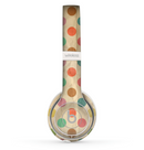 The Vintage Tan & Colored Polka Dots Skin Set for the Beats by Dre Solo 2 Wireless Headphones