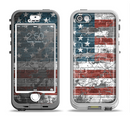 The Vintage USA Flag Apple iPhone 5-5s LifeProof Nuud Case Skin Set