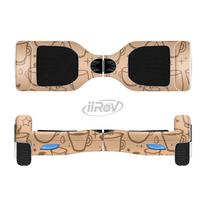 The Vintage Vector Coffee Mugs Full-Body Skin Set for the Smart Drifting SuperCharged iiRov HoverBoard