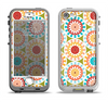 The Vintage Vector Color Circle Pattern Apple iPhone 5-5s LifeProof Nuud Case Skin Set