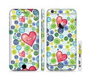 The Vintage Vector Heart Buttons Sectioned Skin Series for the Apple iPhone 6/6s Plus