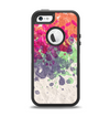 The Vintage WaterColor Droplets Apple iPhone 5-5s Otterbox Defender Case Skin Set