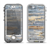 The Vintage Wooden Planks with Yellow Paint Apple iPhone 5-5s LifeProof Nuud Case Skin Set