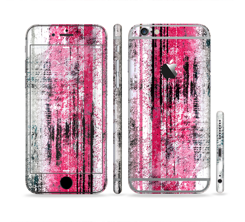 The Vintage Worn Pink Paint Sectioned Skin Series for the Apple iPhone 6/6s Plus