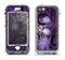 The Violet with Black Highlighted Spirals Apple iPhone 5-5s LifeProof Nuud Case Skin Set