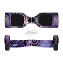 The Violet with Black Highlighted Spirals Full-Body Skin Set for the Smart Drifting SuperCharged iiRov HoverBoard