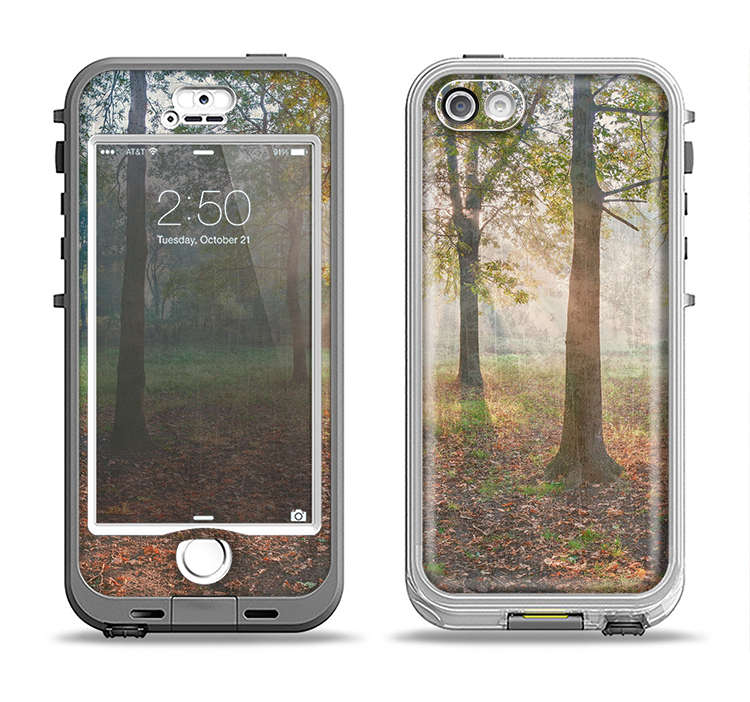 The Vivia Colored Sunny Forrest Apple iPhone 5-5s LifeProof Nuud Case Skin Set