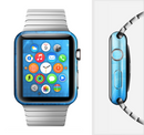 The Vivid Blue Fantasy Surface Full-Body Skin Set for the Apple Watch