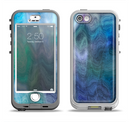 The Vivid Blue Sagging Painted Surface Apple iPhone 5-5s LifeProof Nuud Case Skin Set